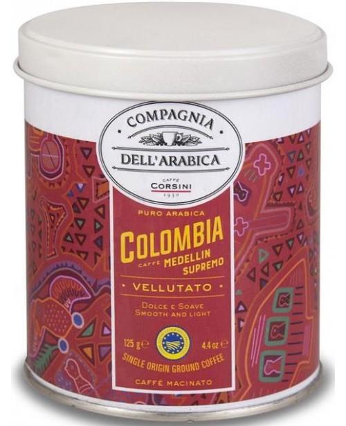 Cafea Macinata Corsini Compagnia Dell'Arabica Colombia Cutie Metal 125g