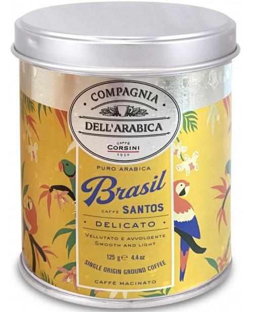 Cafea Macinata Corsini Compagnia Dell'Arabica Brasil Cutie Metal 125g
