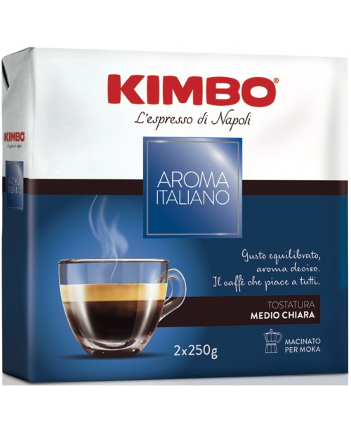 Cafea Macinata Kimbo Aroma Italiano Pachet 2 x 250g