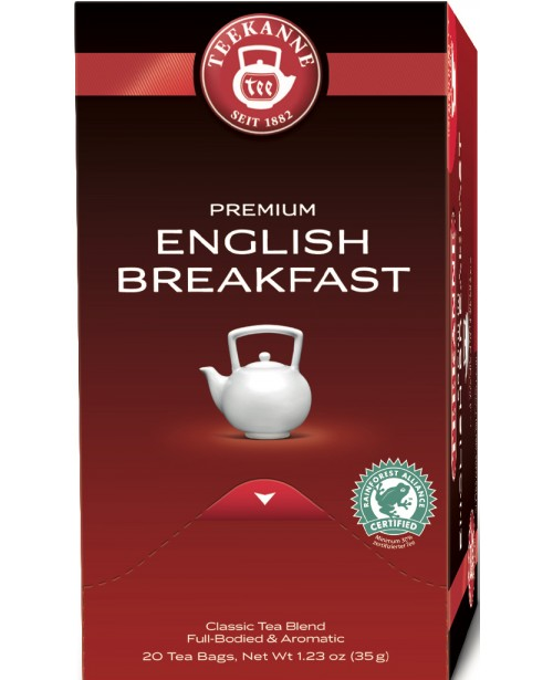 Ceai Teekanne Premium English Breakfast 20 pliculete Top