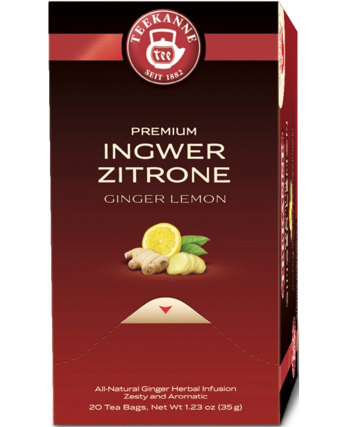 Ceai Teekanne Premium Ginger Lemon 20 pliculete Top