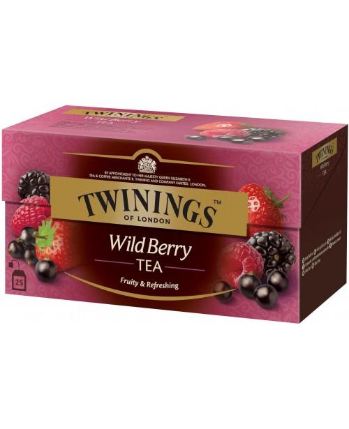 Ceai Twinings Negru cu Aroma de Fructe de Padure 25 Pliculete