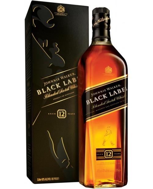 Johnnie Walker Black Label 12 Ani 1L Top