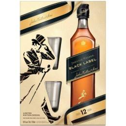 Johnnie Walker Black Label 12 Ani cu 2 Pahare 0.7L