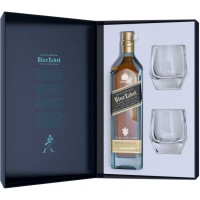 Johnnie Walker Blue Label cu 2 Pahare Cristal Editie Limitata 0.7L