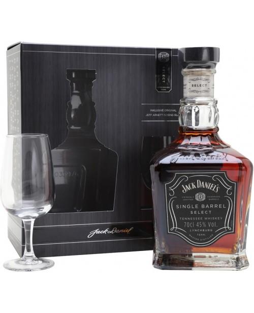 Jack Daniel's Single Barrel cu Pahar 0.7L Top