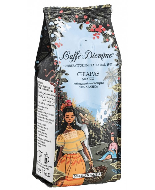 Cafea Caffe Diemme Chiapas Arabica Mexico Macinata 200G