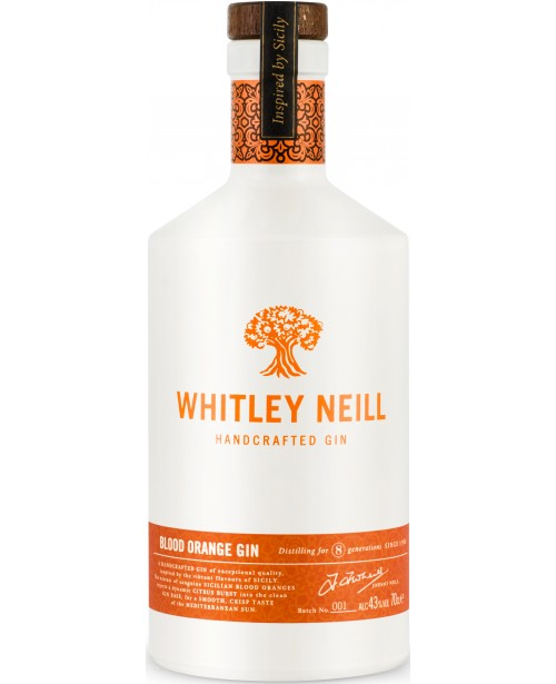 Whitley Neill Portocale Rosii Gin 0.7L Top