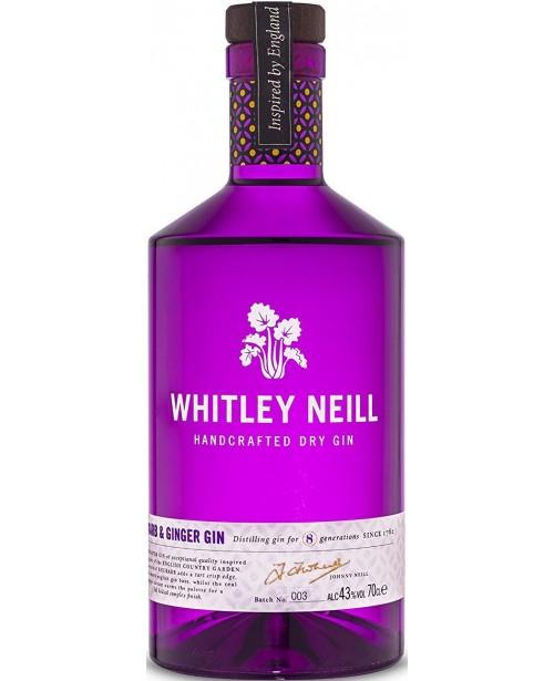 Whitley Neill Rubarba si Ghimbir Gin 1L Top