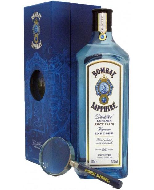 Bombay Sapphire cu Lupa 1L Top