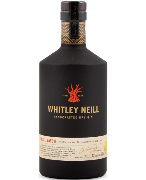Whitley Neill Small Batch Gin 0.7L Top