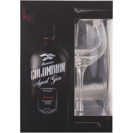 Dictador Colombian Aged Gin Treasure cu Pahar 0.7L
