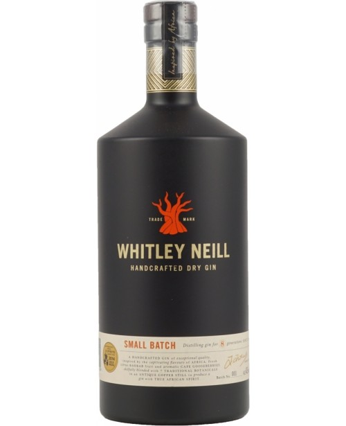 Whitley Neill Small Batch Gin 1L Top