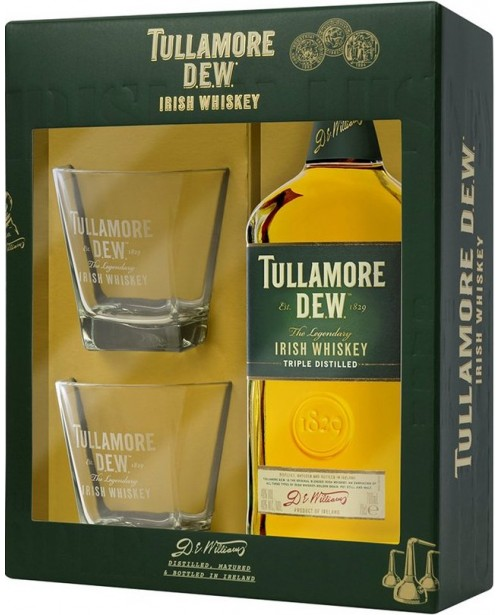 Tullamore Dew cu 2 Pahare 0.7L Top