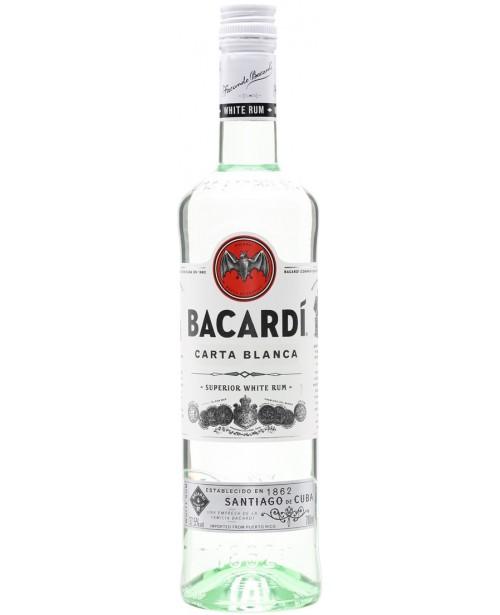 Bacardi Carta Blanca White 1L Top