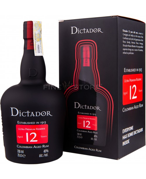 Dictador 12 Ani Cutie Cadou 0.7L