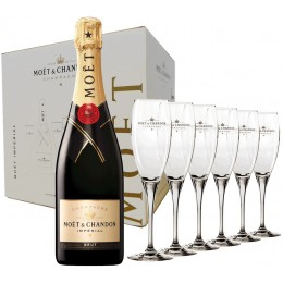 Moet & Chandon Brut 6 Sticle si 6 Pahare 0.75L
