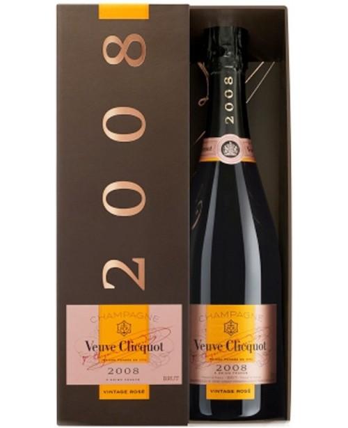 Veuve Clicquot Vintage Rose 2008 Cutie Cadou 0.75L Top