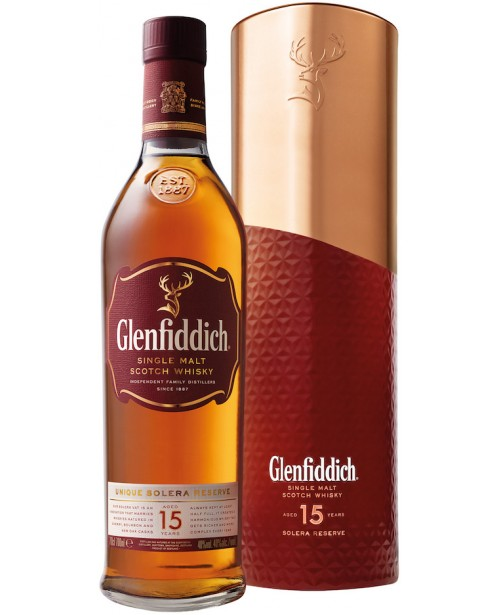 Glenfiddich 15 Ani Solera Liquid Copper Tin 0.7L