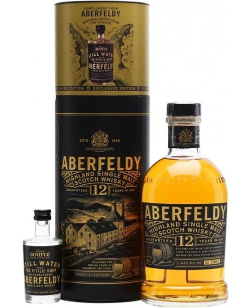 Aberfeldy 12 Ani + Sticla Apa Sursa Uisge 0.7L Top
