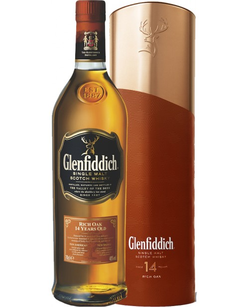 Glenfiddich 14 Ani Liquid Copper Tin 0.7L