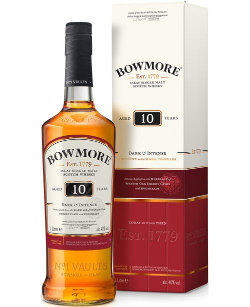Bowmore 10 Ani Dark & Intense 1L Top