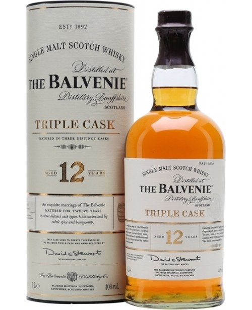 Balvenie 12 Ani Triple Cask 1L Top