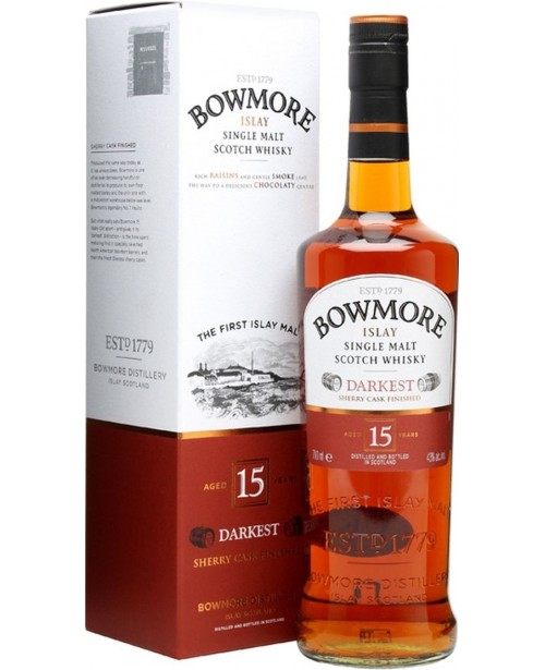 Bowmore 15 Ani Darkest 0.7L