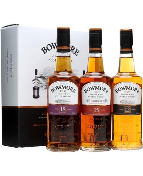 Bowmore Gift Pack (12 Ani, 15 Ani, 18 Ani) Top