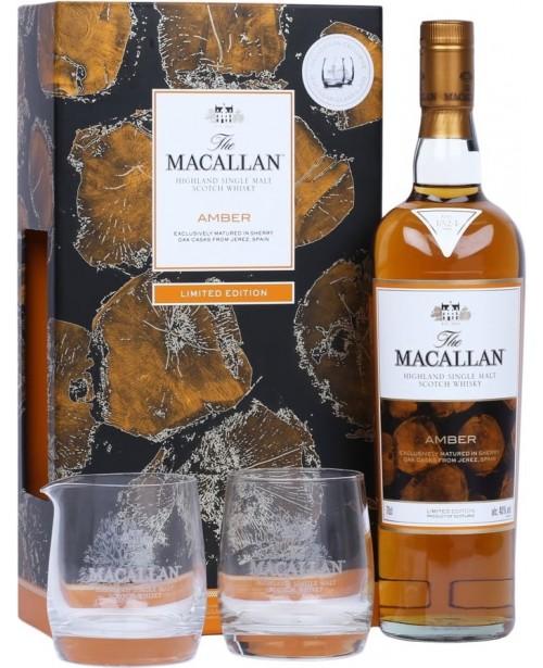 Macallan Amber cu 2 Pahare 0.7L