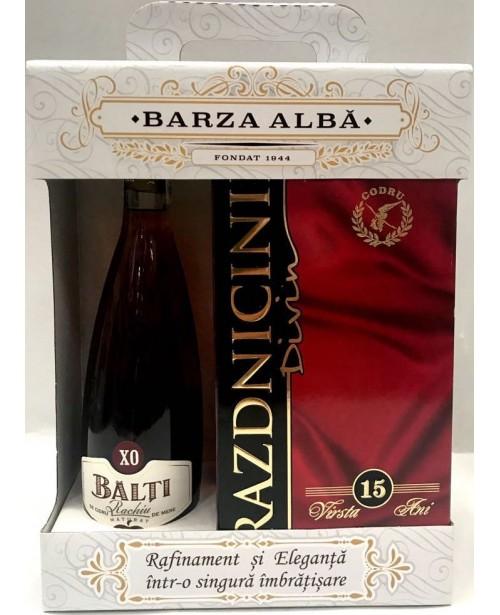 Barza Alba Set Divin Prazdnicinii si Balti XO Rachiu de Cidru 1.25L Top