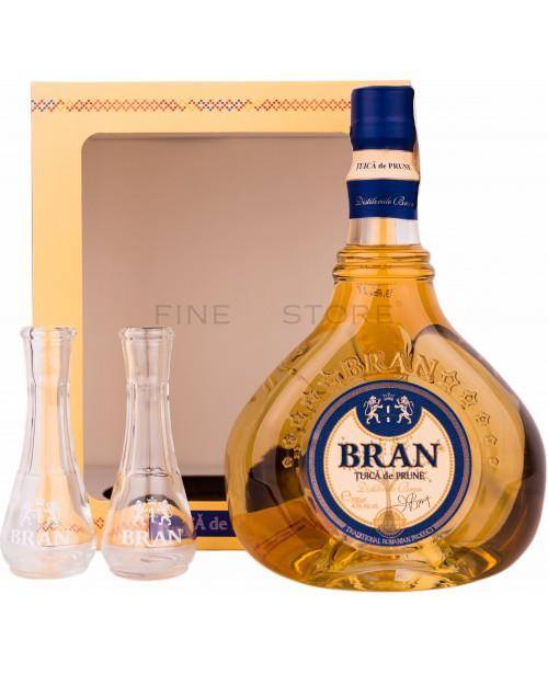 Bran Tuica Prune cu 2 Toiuri 0.7L