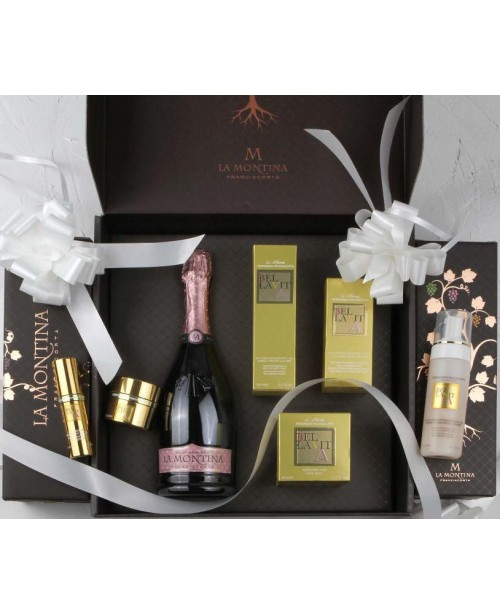 La Montina Franciacorta Set Lady Case Rose Demi Sec 0.75L Top