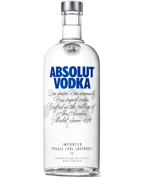 Absolut Blue 1L Top
