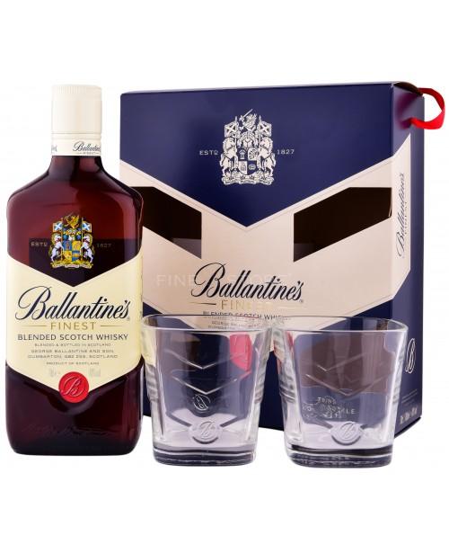 Ballantine's cu 2 Pahare 0.7L Top