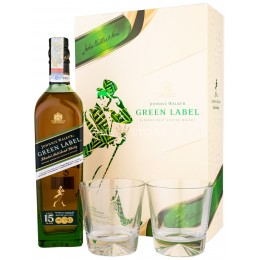 Johnnie Walker Green Label 15 Ani Cu 2 Pahare 0.70L