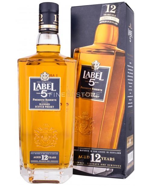 Label 5 Premium Reserve 12 Ani 0.7L