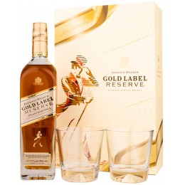 Johnnie Walker Gold Label Reserve cu 2 Pahare 0.7L