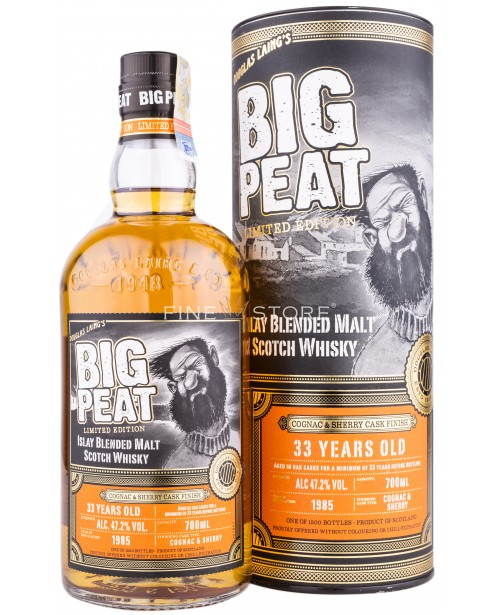 Big Peat 33 Years Old Cognac & Sherry Cask Finish 0.7L