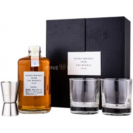 Nikka From The Barrel cu 2 Pahare si Jigger 0.5L
