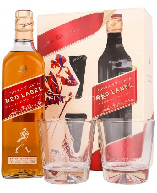 Johnnie Walker Red Label Cu 2 Pahare 0.7L