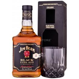 Jim Beam Black Label cu Pahar 0.7L