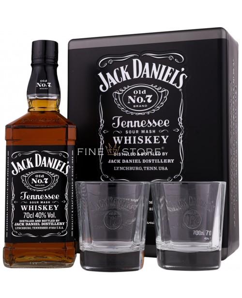 Jack Daniel's Cutie Metal & 2 Pahare 0.7L