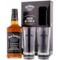 Jack Daniel's cu 2 Pahare 0.7L