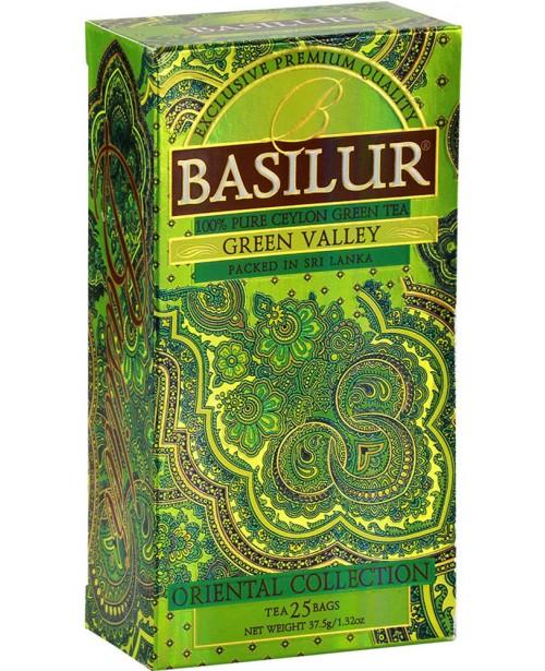 Ceai Basilur Green Valley 25 Pliculete