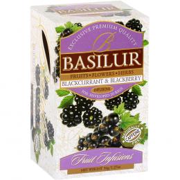 Ceai Basilur Blackcurrant & Blackberry 20 Pliculete