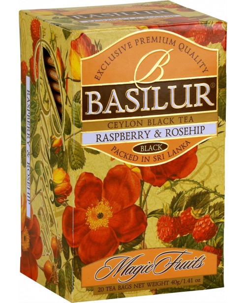 Ceai Basilur Raspberry & Rosehip 20 Pliculete