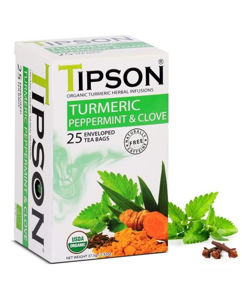 Ceai Tipson Organic Peppermint & Clove 25 Pliculete