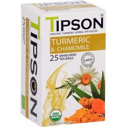 Ceai Tipson Organic Turmeric & Chamomile 25 Pliculete