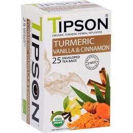 Ceai TIpson Organic Turmeric Vanilla & Cinnamon 25 Pliculete